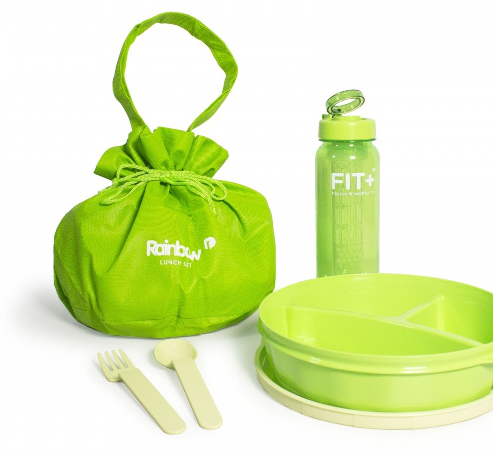 Rainbow Lunch Set Forest Green