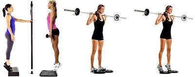 Mujer ejercicio pantorrillas calves workout