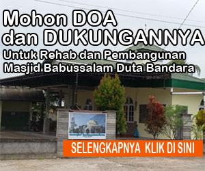 Ayo Sodaqah Bagi Pembangunan Masjid Babussalam Duta Bandara Kubu Raya
