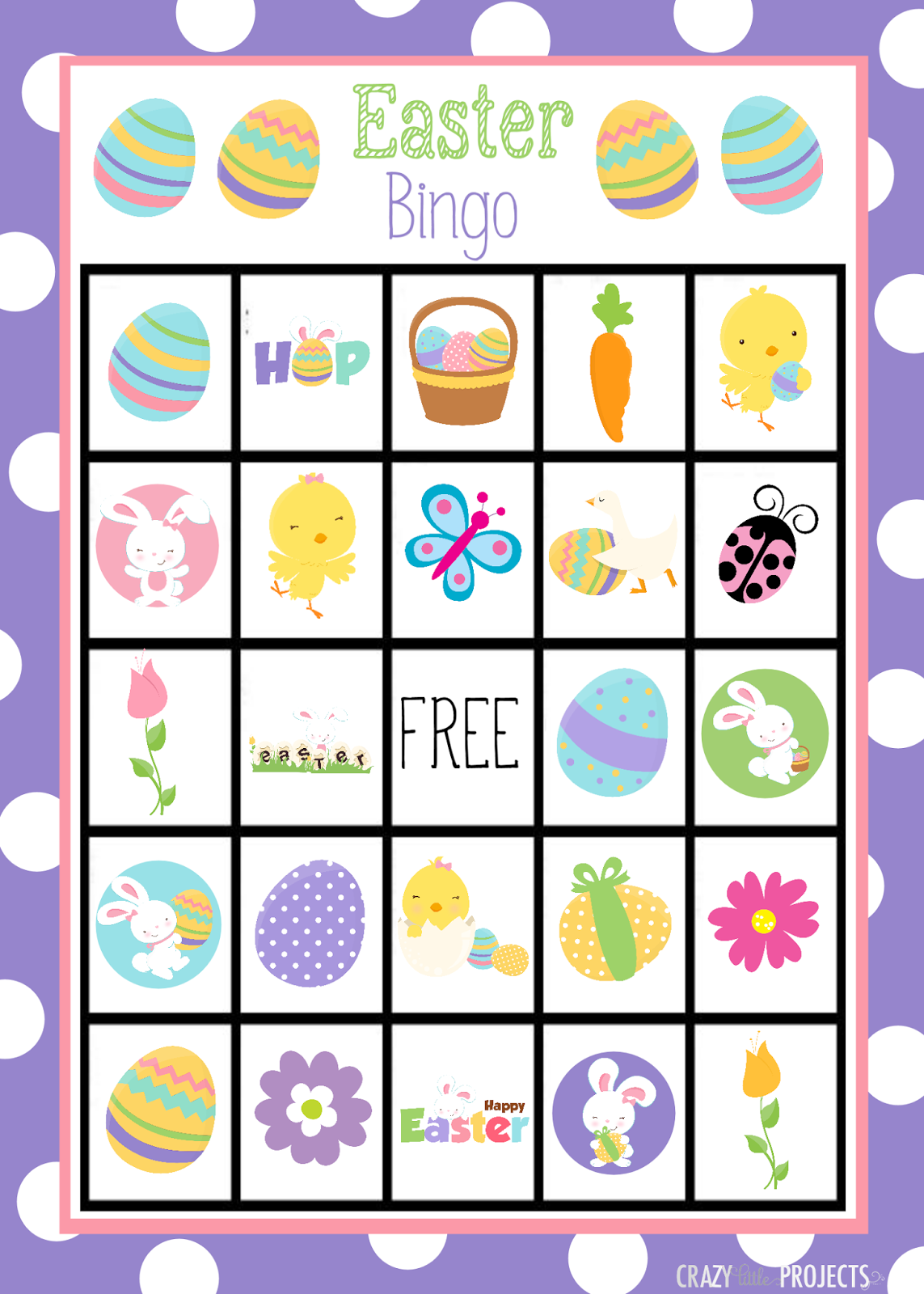 Comprehensive image within spring bingo game printable