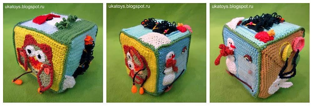 Ukatoys вязаный кубик