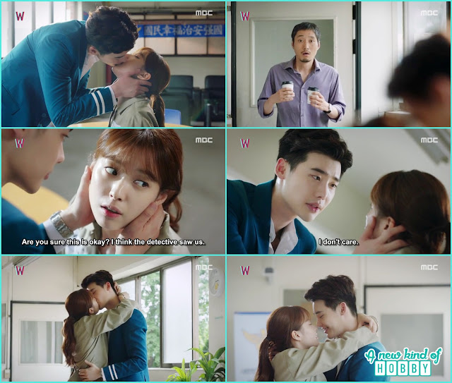 kang chul and yeon joo romance kiss- W - Episode 7 Review - Korean Drama 2016