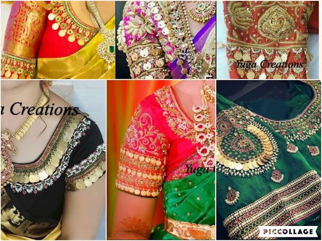 Telugu Fashion Trends - 3D Blouse Designs | Floral Blouse Designs
