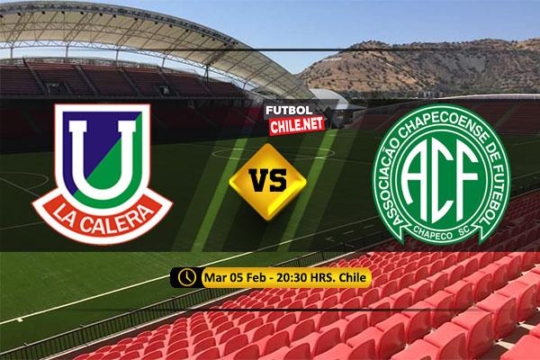 Mira Unión La Calera vs Chapecoense en vivo y online por la 1era Ronda Ida de la Copa Sudamericana