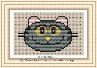 Cat 3, Free and easy printable cross stitch pattern