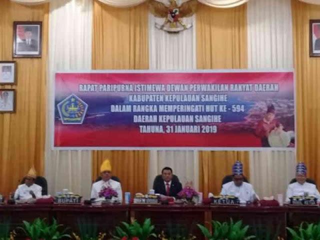 DPRD Kepulauan Sangihe Gelar Rapat Paripura Istimewa Peringati HUT ke 594