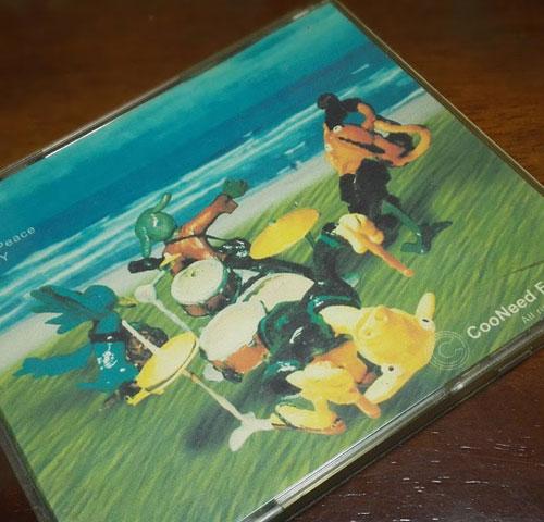 CDジャケット裏面の写真