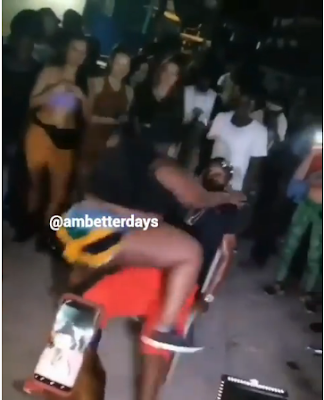 Plus-sized Lady With Huge Backside Twerks Hard On A Man Until He Collapses From The Chair