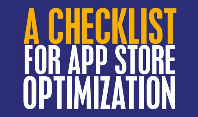 A Checklist for App Store Optimization
