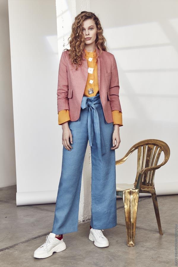 Ropa de mujer primavera verano 2019. Trajes moda 2019.