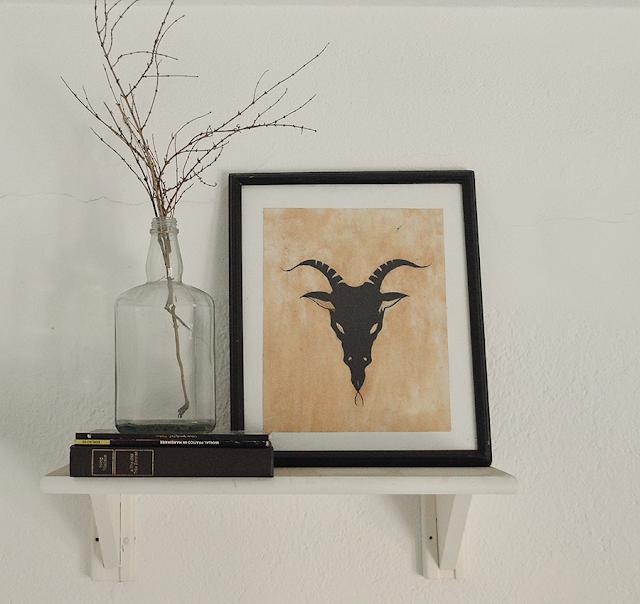 Scandinavian Decor - Baphomet Frame Tumblr DIY