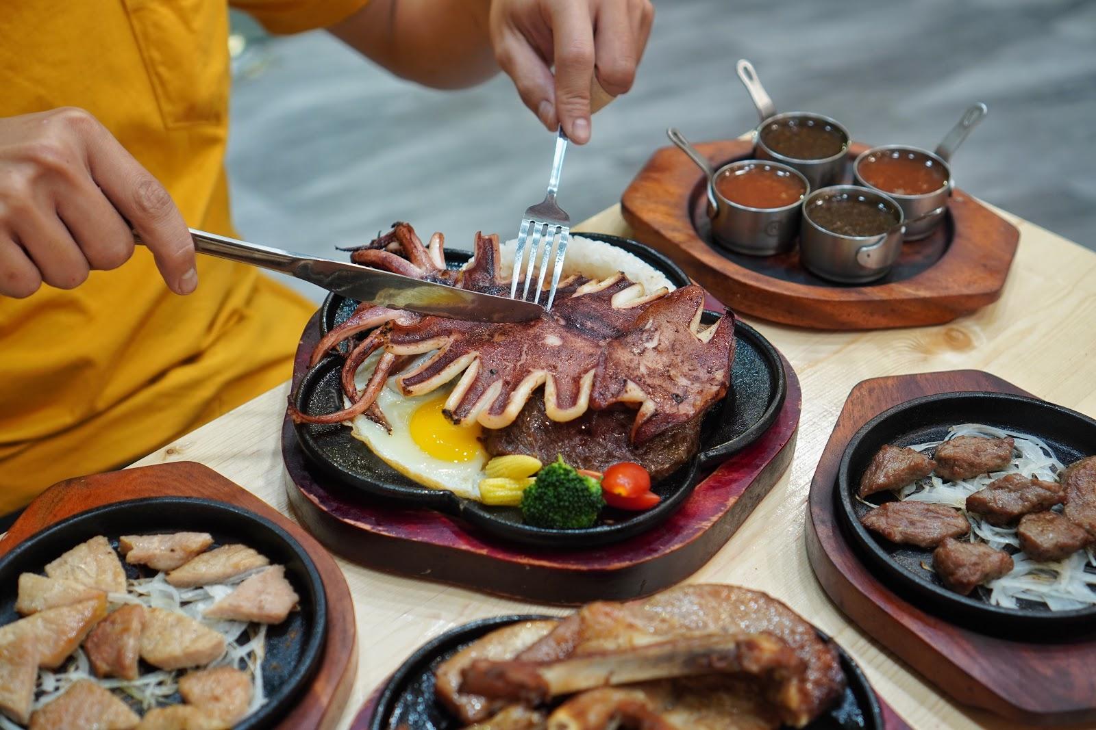 台南美食【19House炙燒牛排安南店】魷魚+厚切