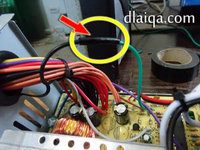 sambung kabel hitam dan hijau