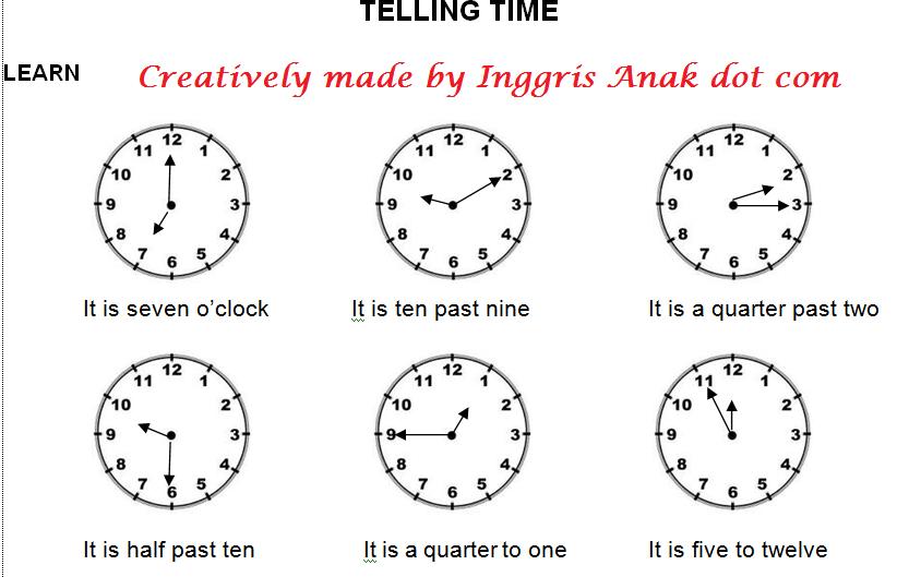 Telling Times Materi Belajar Bahasa Inggris Tentang Jam Bahasa