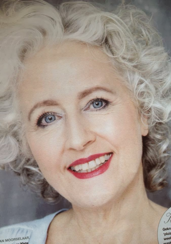 701 best Silver Hair images on Pinterest   Silver hair ...  Makeup For Gray Hair