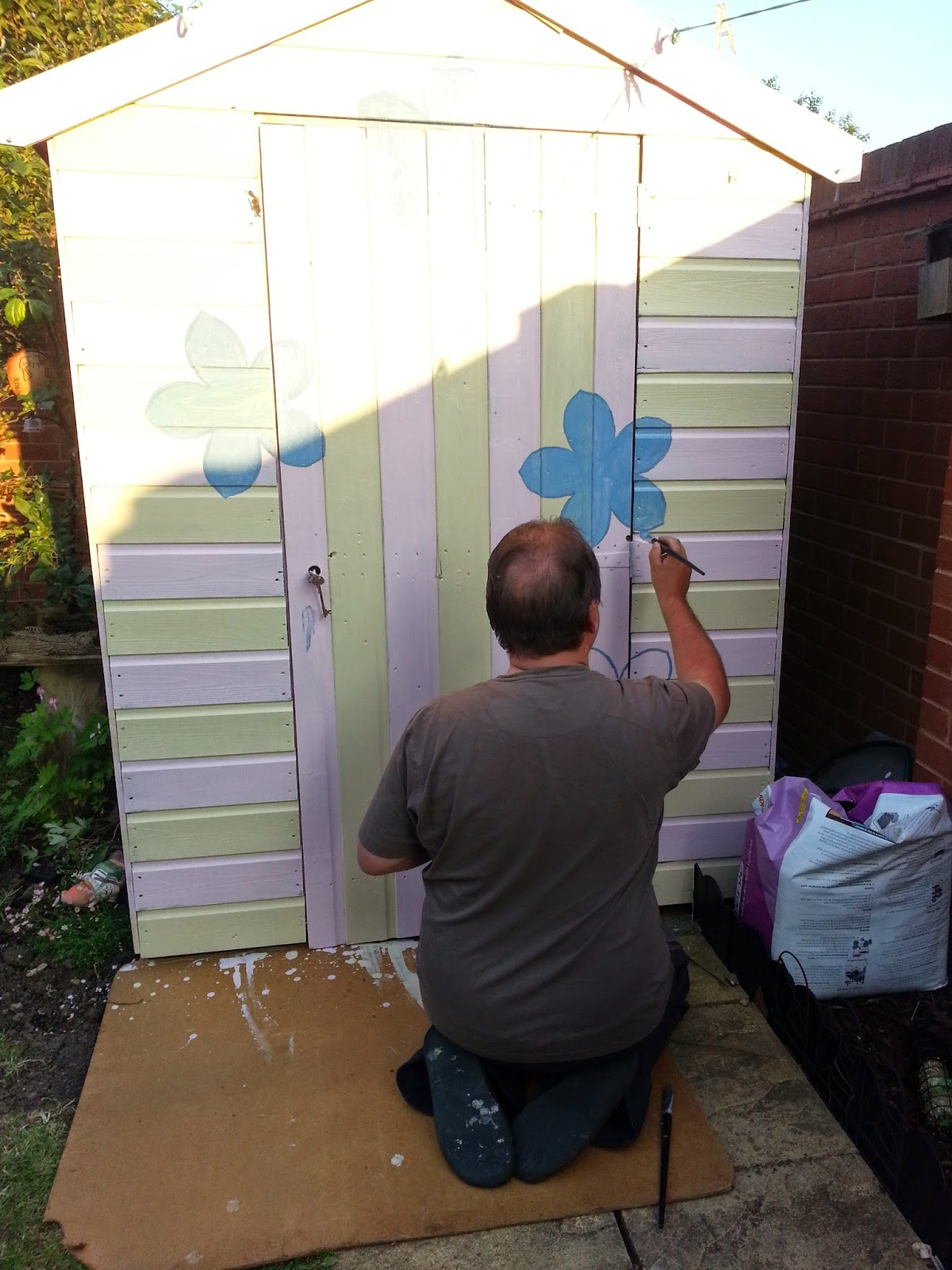Painting the Shed Pink