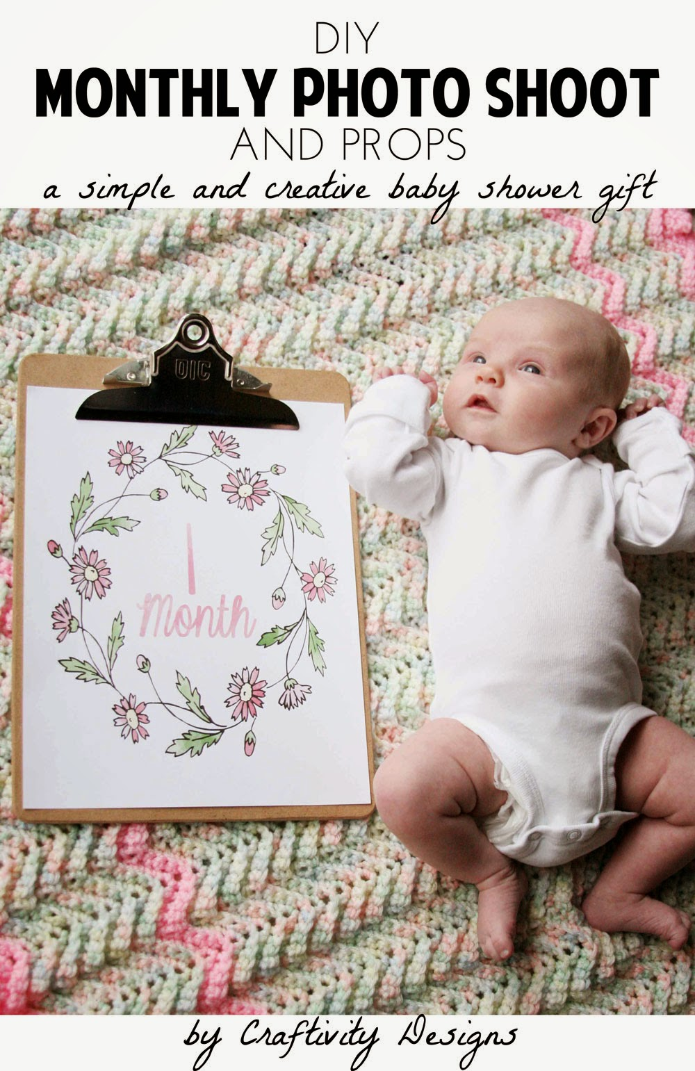 diy newborn baby photo ideas - DIY Monthly Baby s – Craftivity Designs