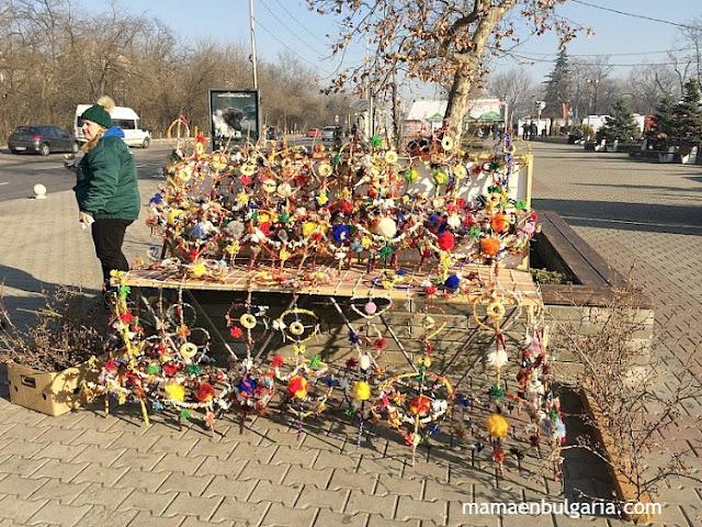 Puesto callejero venta survachkas Bulgaria