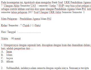 Soal-UAS-UKK-kelas-7-SMP-PAI-Semester-1