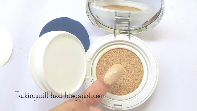 Review The Face Shop CC Cushion Intense Cover V203 Natural Beige