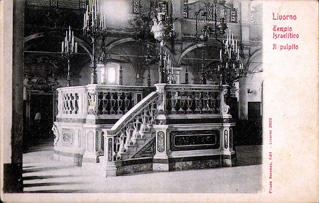 The tebah of the old synagogue of Livorno
