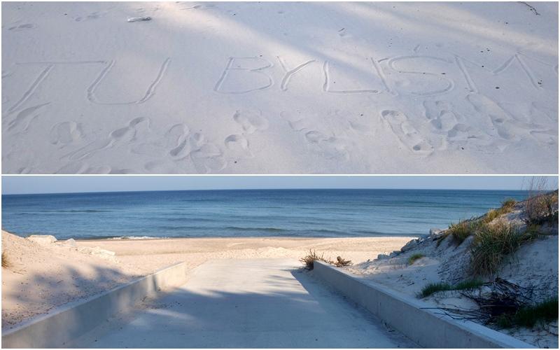 gdzie sa latwe wejscia do morza nad baltykiem