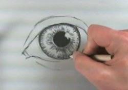 Göz resmi çizim teknikleri -3