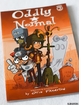 Oddly Normal by Otis Frampton is book 3 of a graphic novel series for 4th through 6th grade.  Middle grade fiction. Colorful illustrations in this fantasy, supernatural series about a girl finding herself. Book review gets 3.5/5 stars.  Alohamoraopenabook Alohamora Open a Book www.alohamoraopenabook.blogspot.com