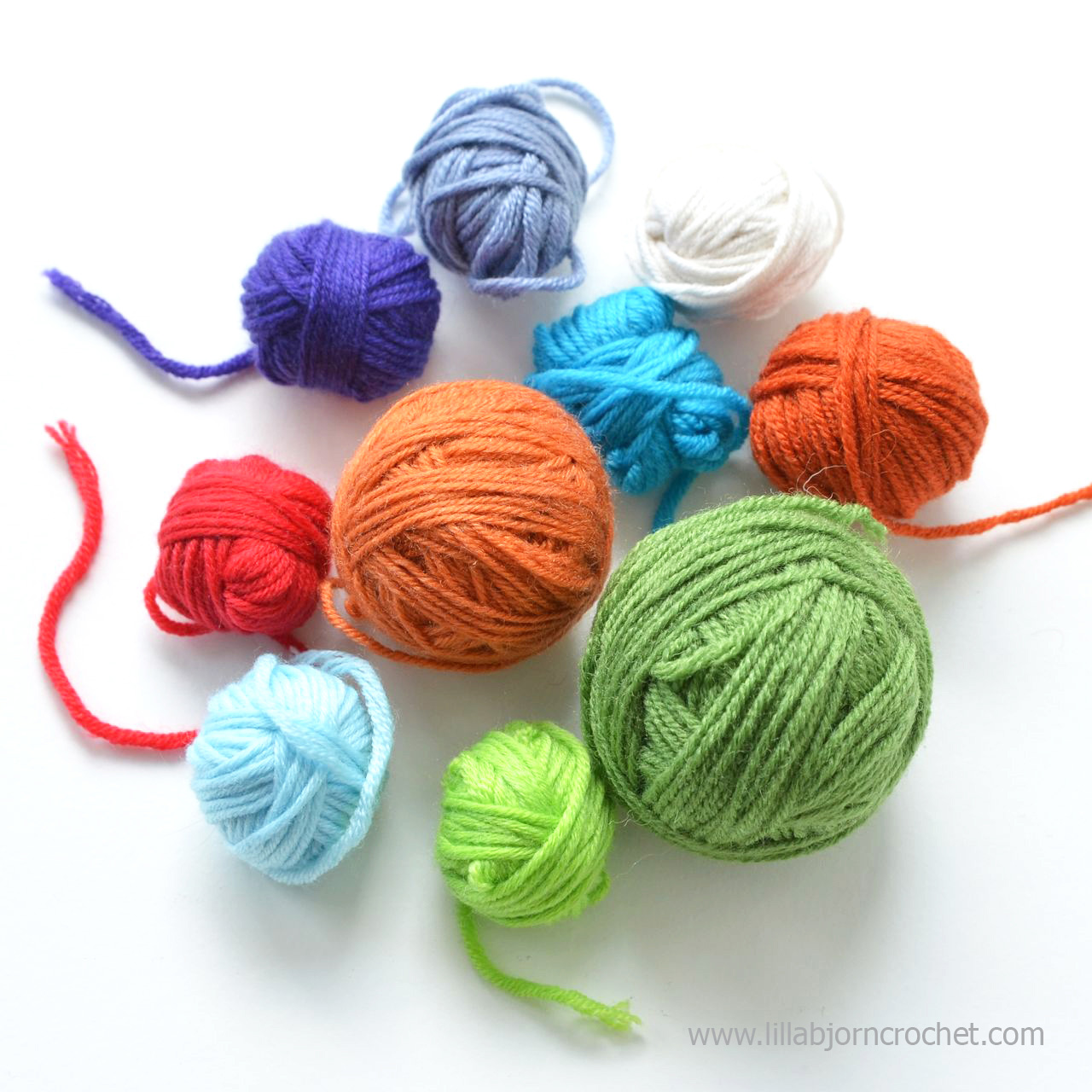 Colorful yarn balls