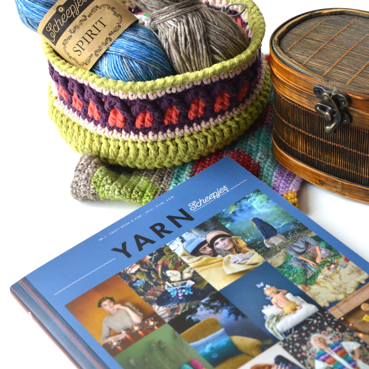 2nd issue of YARN book-a-zine by Scheepjes is full of mystery and festive patterns. Review by Lilla Bjorn crochet