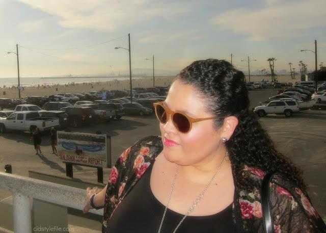 plus size, fashion, wet seal plus, seal beach, valentines day, fashion over 40, kimono, latina blogger,