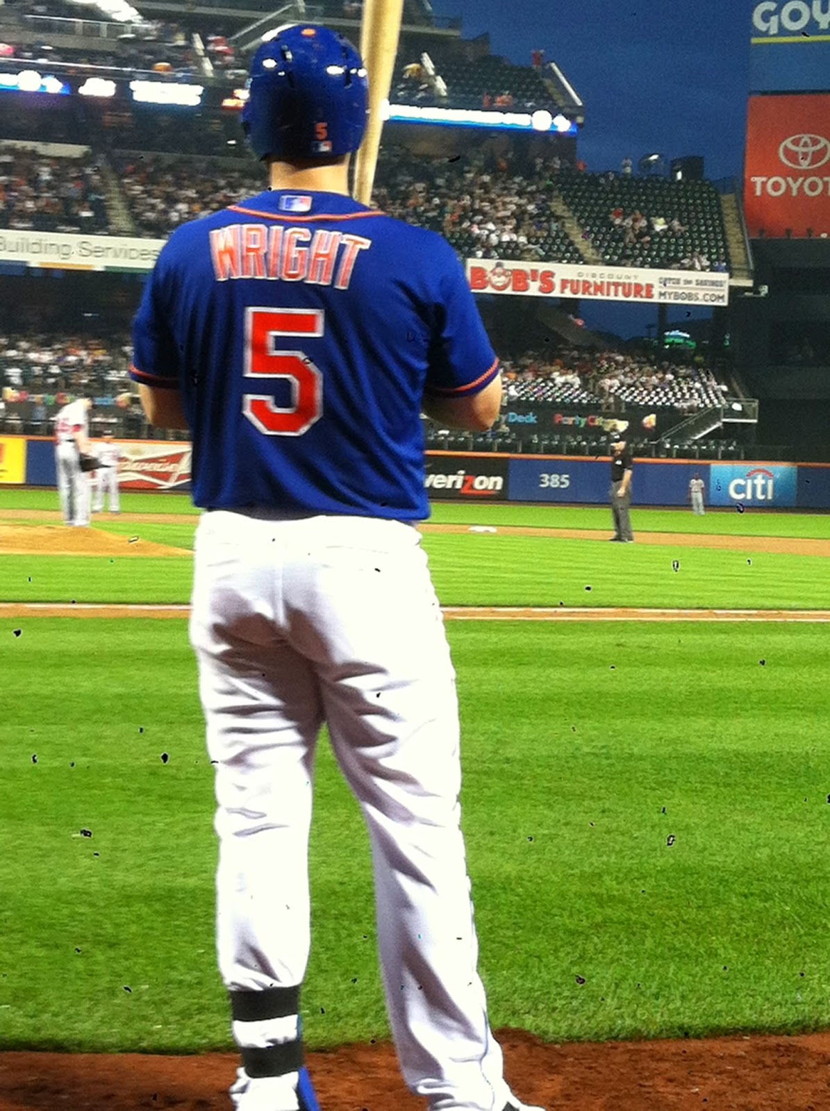 David Wright on deck first row seats picture