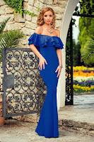 Rochie Viktoria Albastra • Rochii lungi ieftine