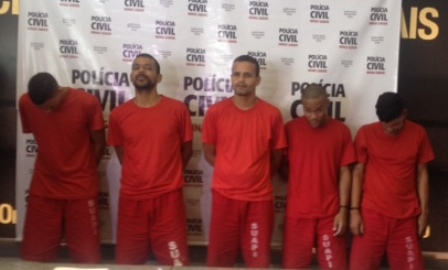 Polícia Civil prende quadrilha responsável por roubo a concessionários