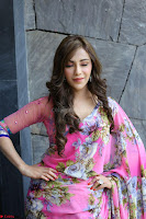 Angela Krislinzki Rogue Movie Fame Telugu Actress in Saree Backless Choli 112.JPG