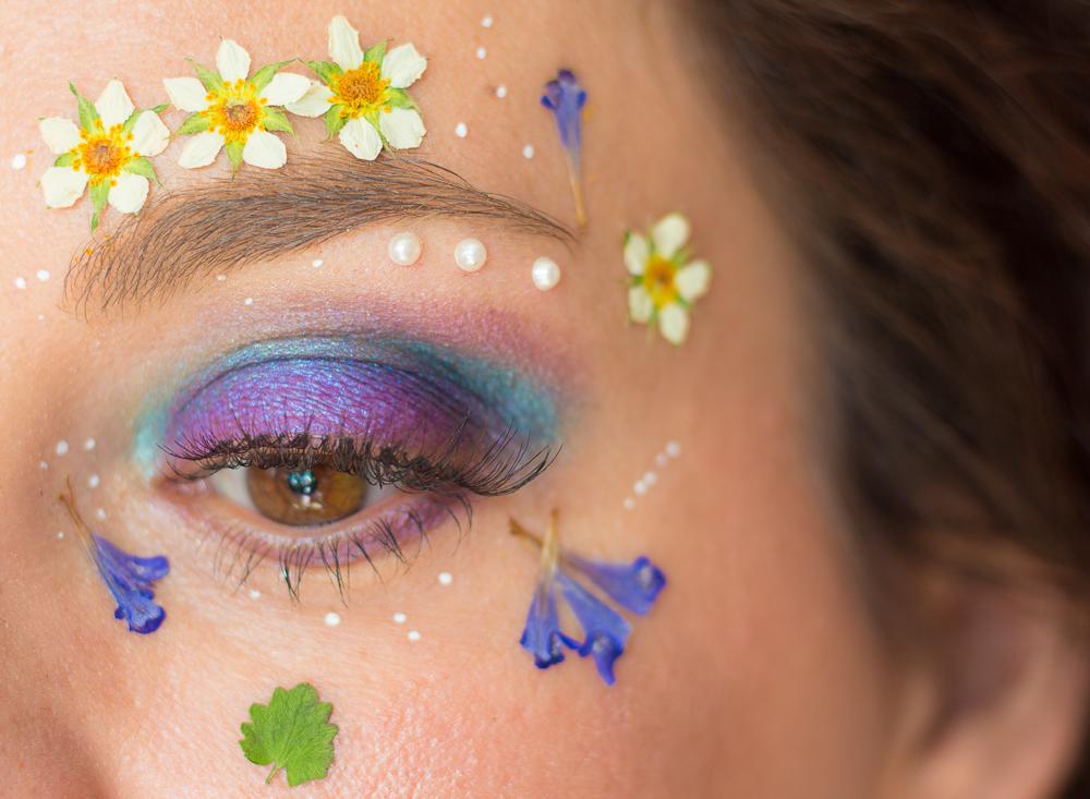 maquillage - fleuri - printemps - tutoriel