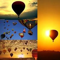 balões subindo no céu, competição de balonistas, balões no céu