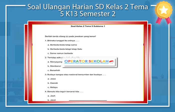 Soal Ulangan Harian SD Kelas 2