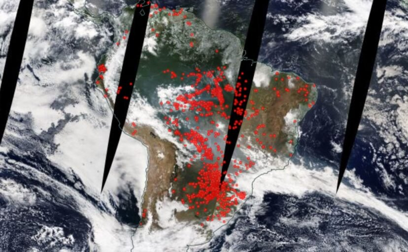 The Newest NASA Satellite Pictures Show How Severe Amazon Fires Have Become