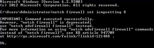 netsh firewall set icmpsetting 8