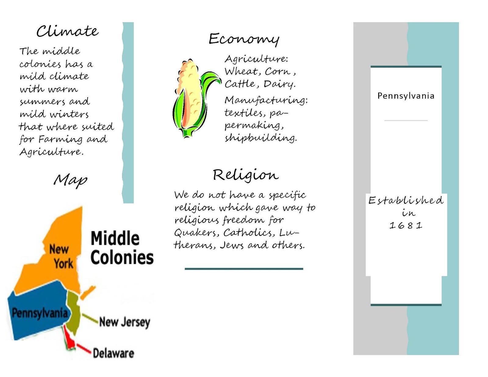 Mt Carmel Junior High School 13 Colonies Brochure