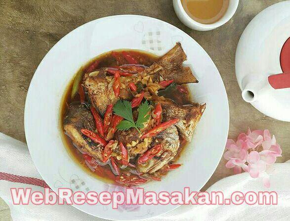 Ikan Senangin Masak Tauco, Resep Ikan Senangin, Resep ikan senangin masak tauco,