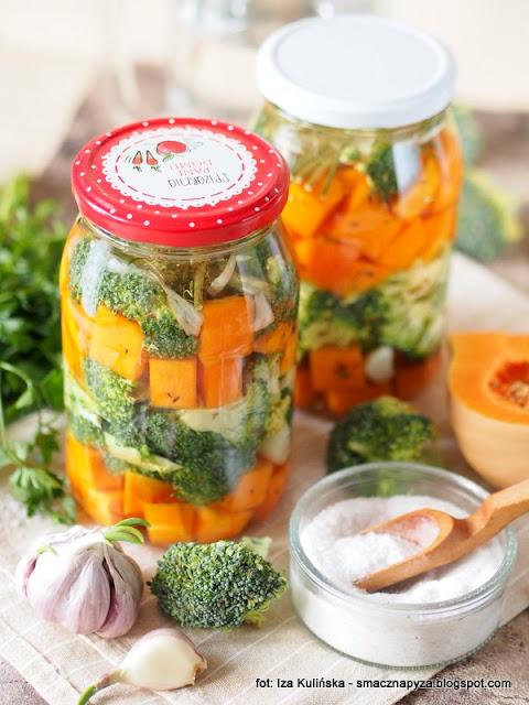 kiszonka z dyni i brokula, dynia pizmowa, brokuly, kiszenie warzyw, kiszone warzywa, zdrowie w sloiku, przetwory