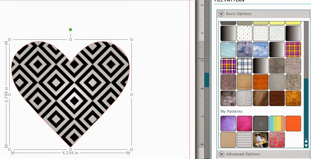 Patterns, cut files, Silhouette Studio, Silhouette tutorial, geometric heart