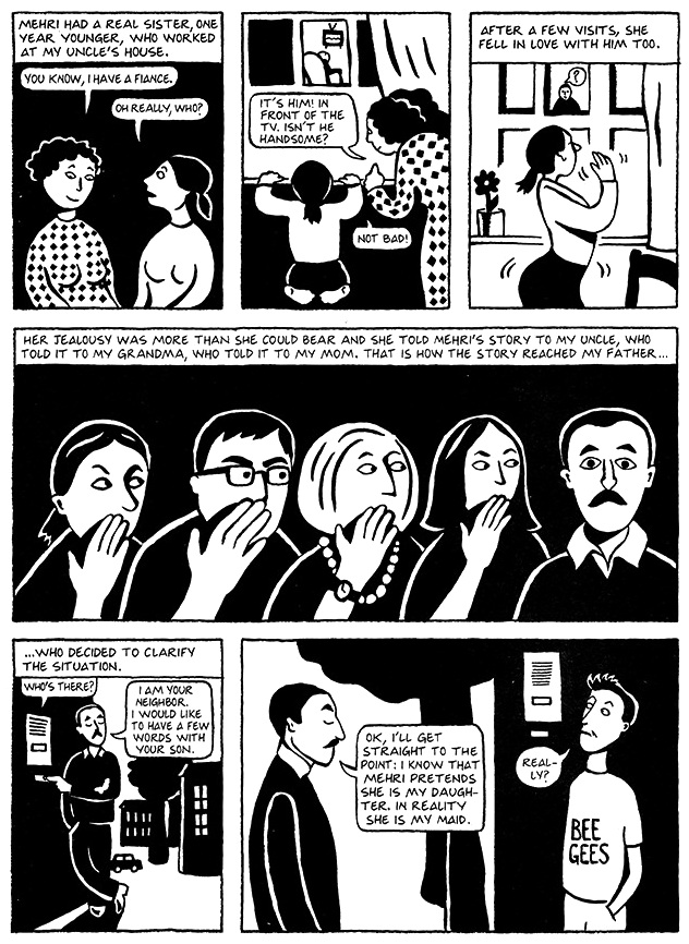 Read Chapter 5 - The Letter, page 34, from Marjane Satrapi's Persepolis 1 - The Story of a Childhood