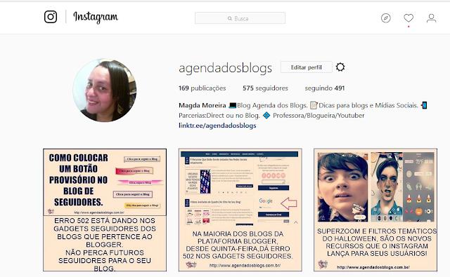 Siga a AGENDA no Instagram
