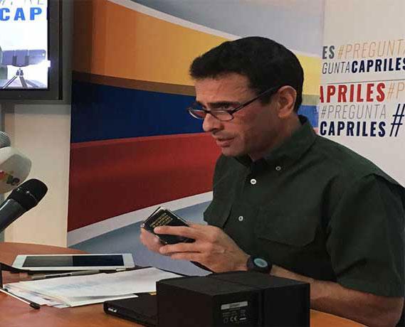 Capriles a Maduro: Bate quebrao no da jonrón