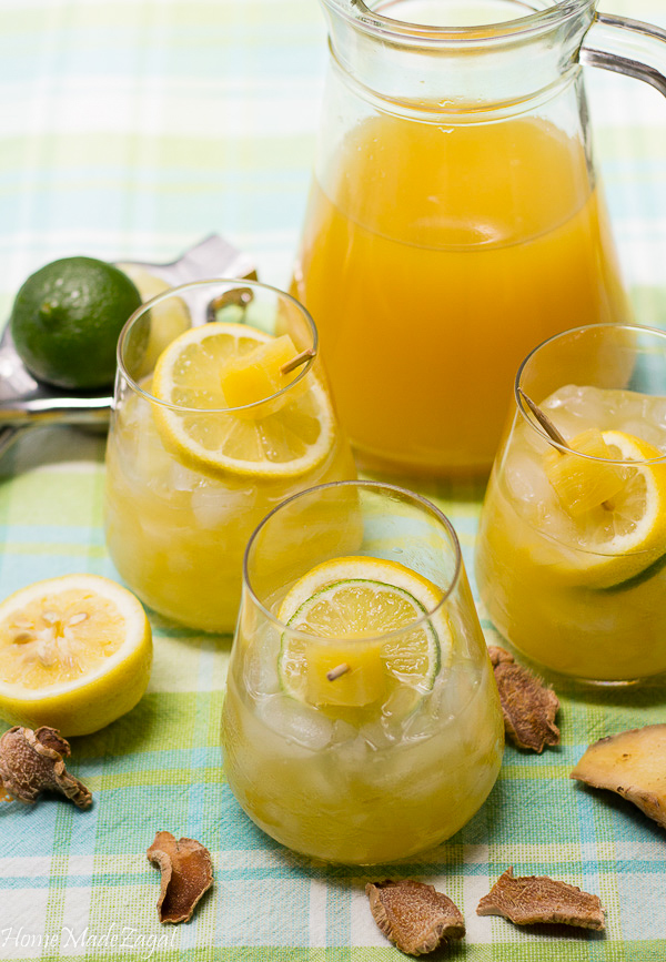 Ginger Pineapple Lemonade