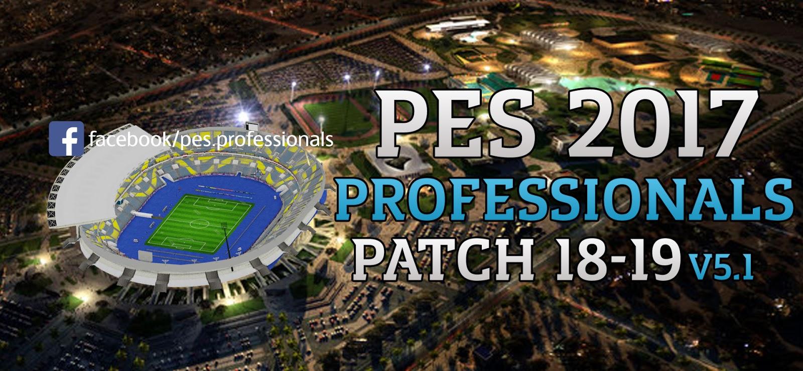 PES 2017 PROFESSIONALS PATCH V5.1