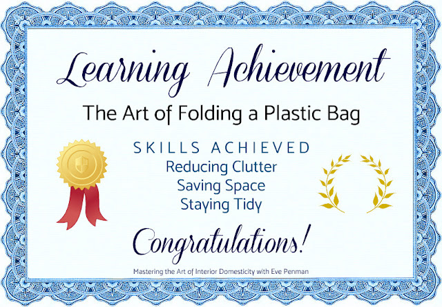 Learning Achievement The Art of Folding a Plastic Bag Mastering the Art of Interior Domesticity with Eve Penman